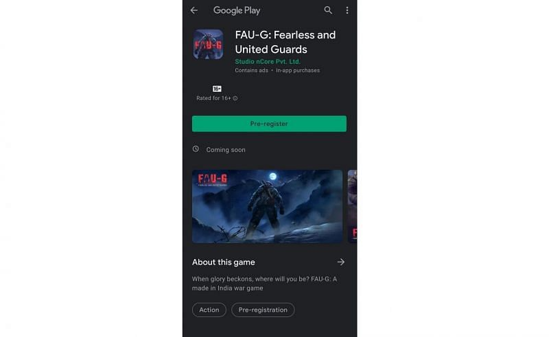 How to Register for FAU-G Mobile Game on Google Play Store?