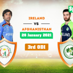 Afghanistan Vs Ireland ODI 3rd Match Live Score and Commentary