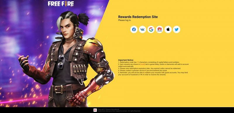 Free Fire Redemption Site