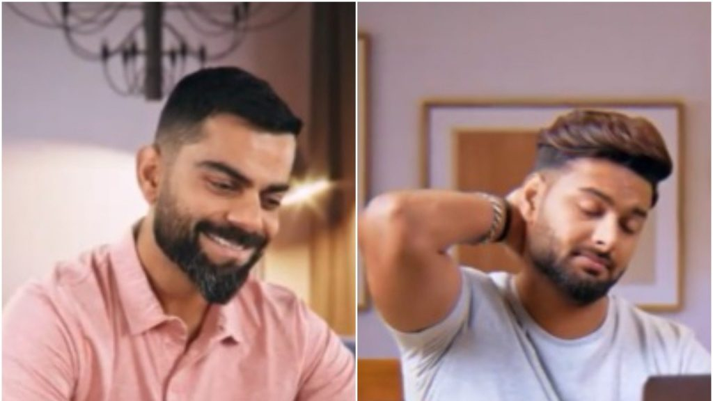 T20 World Cup 2021 Virat Kohli Poses Challenge To Rishabh Pant in a promotional video